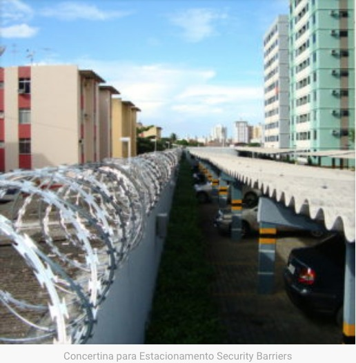 Concertina em BH para Estacionamento Security Barriers